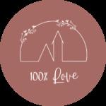 logo cent pour cent love